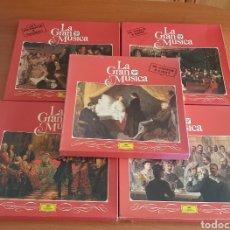 Discos de vinilo: LA GRAN MUSICA (5 CAJAS VIVALDI, BACH, CHOPIN, BEETHOVEN, ETC) 20 VINILOS + 5 LIBRETOS. Lote 200116302