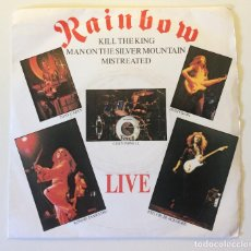 Discos de vinilo: RAINBOW – LIVE KILL THE KING - MAN ON THE SILVER MOUNTAIN - MISTREATED UK 1977 POLYDOR. Lote 200118368