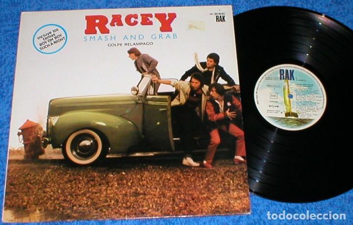 RACEY SPAIN LP 1980 SMASH AND GRAB GOLPE RELAMPAGO POP ROCK GLAM ROCK NEW WAVE BUEN ESTADO OFERTA !! (Música - Discos - LP Vinilo - Pop - Rock - New Wave Internacional de los 80)