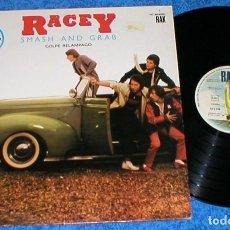 Discos de vinilo: RACEY SPAIN LP 1980 SMASH AND GRAB GOLPE RELAMPAGO POP ROCK GLAM ROCK NEW WAVE BUEN ESTADO OFERTA !!. Lote 200120532