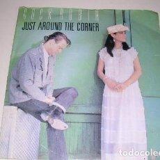 Discos de vinilo: COCK ROBIN JUST AROUND THE CORNER. Lote 200129396