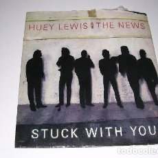 Discos de vinilo: HUEY LEWIS THE NEWS STUCK WITH YOU 1986. Lote 200142263