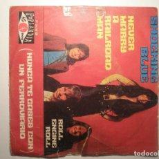 Discos de vinilo: SHOCKING BLUE NEVER MARRY A RAILOAD MAN NUNCA TE CASES CON UN FERROVIARIO / ROLL ENGINE ROLL 1970. Lote 200145865
