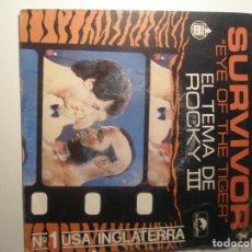 Discos de vinilo: SURVIVOR EYE ON THE TIGER EL TEMA DE ROCKY / TAKE YOU ON A SATURDAY 1982. Lote 200145958