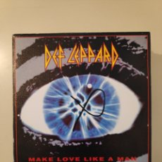 Disques de vinyle: NT DEF LEPPARD - MAKE LOVE LIKE A MAN 1992 SINGLE VINILO HEAVY ROCK METAL. Lote 200150455