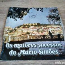 Discos de vinilo: LOS MAYORES SUCESOS DE MARIO SIMOES - SINGLE. Lote 200151613