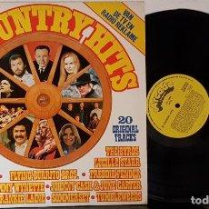 Discos de vinilo: 20 CIUNTRY HITS - 20 ORIGINALS TRACKS. Lote 200154452