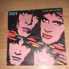 Disques de vinyle: KISS - TEARS ARE FALLING - MERCURY 1985. Lote 200161483