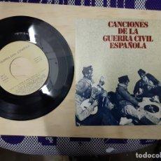 Discos de vinilo: MAXI SINGLE CANCIONES DE LA GUERRA CIVIL ESPAÑOLA AY CARMELA NOVIO DE LA MUERTE FALANGE. Lote 200167745