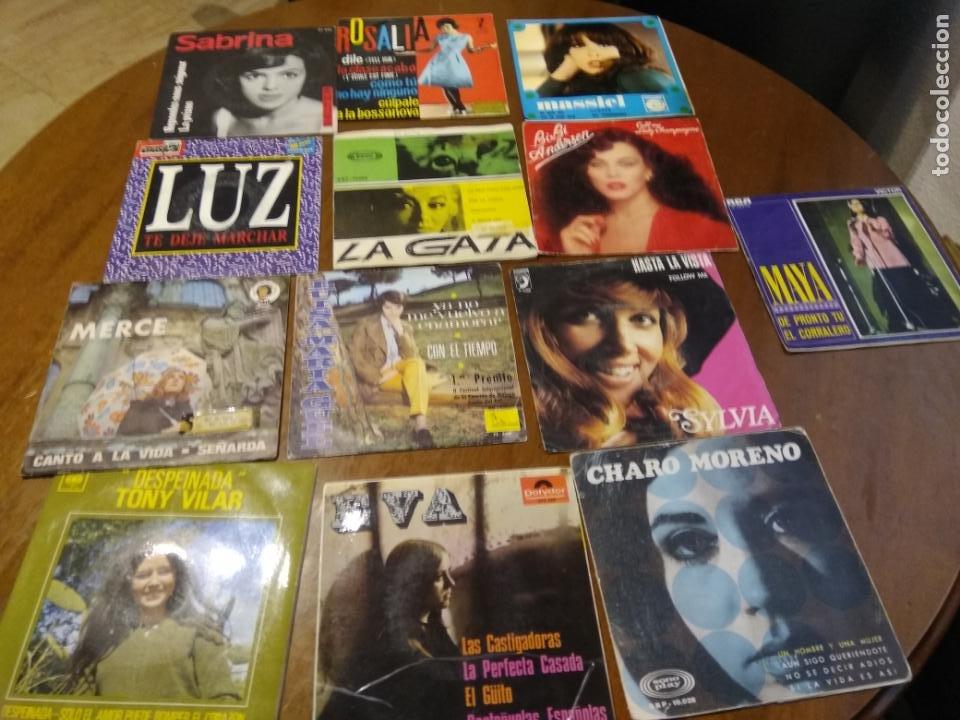 LOTE- TRECE SINGLES Y EP-SOLISTAS ESPAÑOLAS-AÑS 60 / 70 (Música - Discos - Singles Vinilo - Solistas Españoles de los 70 a la actualidad)