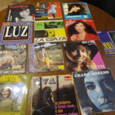 Discos de vinilo: LOTE- TRECE SINGLES Y EP-SOLISTAS ESPAÑOLAS-AÑS 60 / 70. Lote 200171560