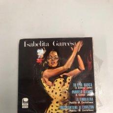 Discos de vinilo: ISABELITA GARCÉS. Lote 200183186