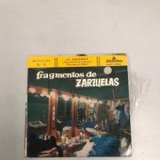 Discos de vinilo: FRAGMENTOS DE ZARZUELAS. Lote 200189271