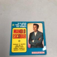 Discos de vinilo: MANOLO ESCOBAR. Lote 200189280