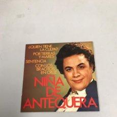 Discos de vinilo: NIÑA DE ANTEQUERA. Lote 200190820