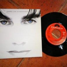 Discos de vinilo: CICERO LOVE IS EVERYWHERE SINGLE VINILO PROMO DEL AÑO 1991 ESPAÑA PET SHOP BOYS MISMO TEMA RARO. Lote 200197395