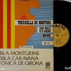 Discos de vinilo: TORROELLA DE MONTGRI - CIUTAT PUBLILLA DE LA SARDANA 1975 . Lote 200198077