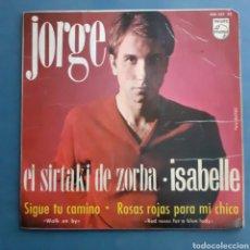 Discos de vinilo: JORGE. EL SIRTAKI DE ZORBA. EP. PHILIPS. ESPAÑA 1965. FUNDA VG+. DISCO VG++.. Lote 200255362