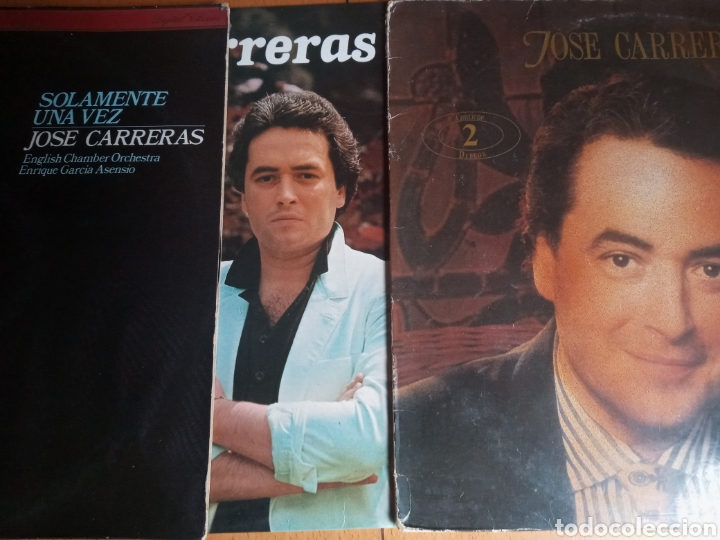 LOTE DISCOS CARRERAS (Música - Discos - LP Vinilo - Clásica, Ópera, Zarzuela y Marchas)