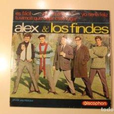 Discos de vinilo: ALEX & LOS FINDES, SINGLE, ES FACIL / POR TU AMOR / YO SERIA FELIZ / DISCOPHON, 1965. Lote 200273173