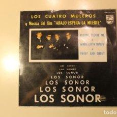 Discos de vinilo: LOS SONOR, SINGLE, LOS CUATRO MULEROS / ABAJO ESPERA LA MUERTE. Lote 200273871