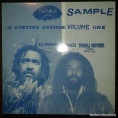 Discos de vinilo: E.T.WEBSTER-TWINKLE BROTHERS - TWINKLE SAMPLE VOL.1- VINYL LP - 1990 - REGGAE - DUB - SOUND SYSTEM. Lote 200290885