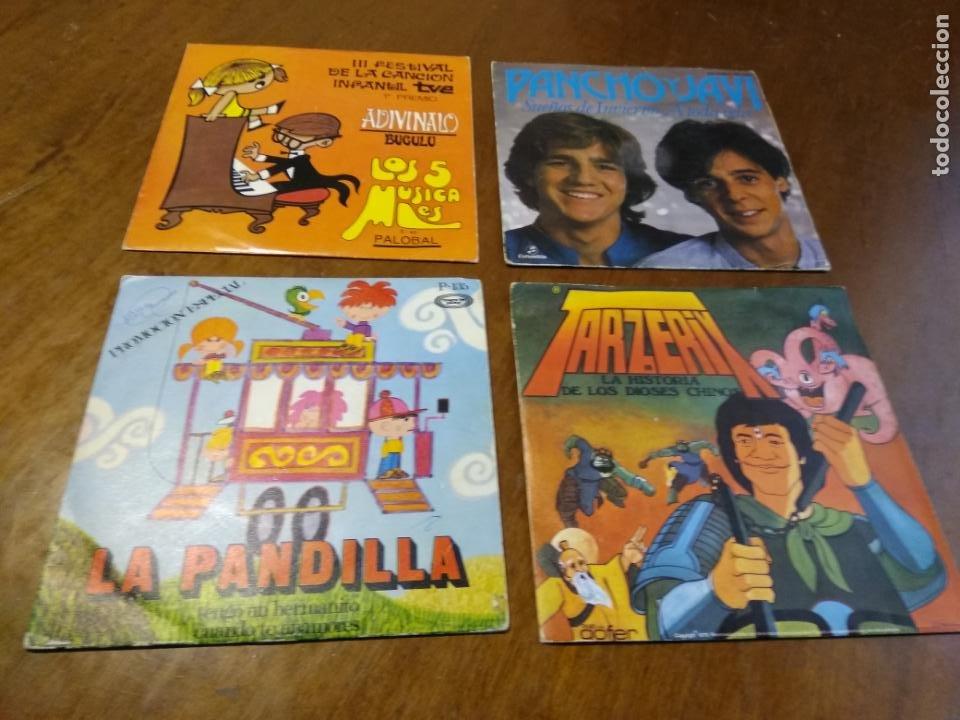 LOTE-CUATRO SINGLES-LA PANDILLA,PANCHO Y JAVI, TARZERIZ,LOS CINCO MUSICALES (Música - Discos - Singles Vinilo - Música Infantil)