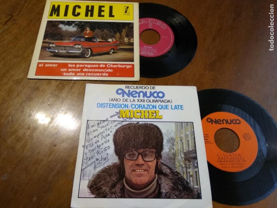 LOTE-MICHEL-DOS DISCOS UN EP Y UN SIGLE ( RARO PROMOCIONAL NENUCO) (Música - Discos de Vinilo - EPs - Solistas Españoles de los 70 a la actualidad)