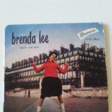 Discos de vinilo: BRENDA LEE ROCK THE BOP + 3 ( 1958 BRUNSWICK FRANCE ) DYNAMITE RING A MY PHONE LOVE YOU TILL I DIE. Lote 200304625