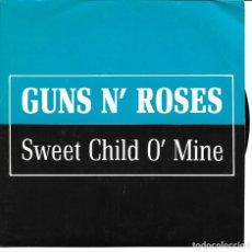 Discos de vinilo: GUNS AND ROSES - SWEET CHILD OF MINE SINGLE PROMO SPAIN 1998. Lote 200304908