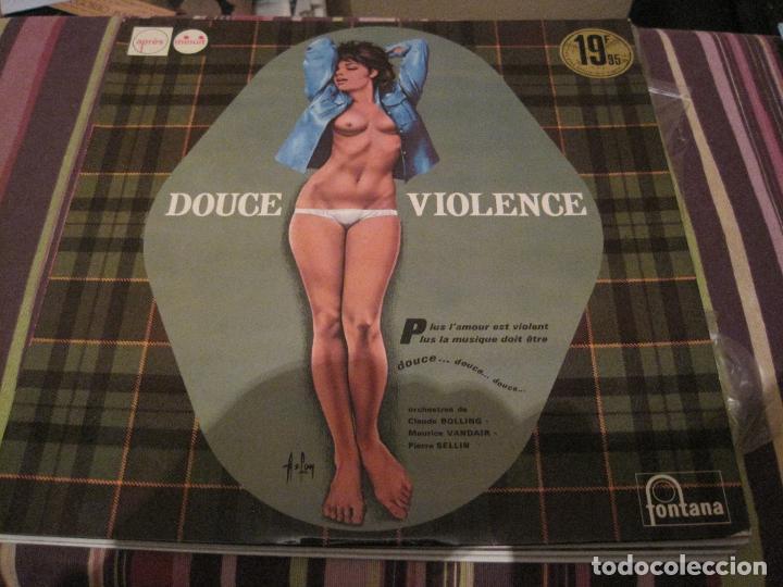 LP DOUCE VIOLENCE VARIOS ARTISTAS FONTANA 688071 FRANCE 196?? JAZZ ORQUESTAS ASLAN SEXY COVER (Música - Discos - LP Vinilo - Jazz, Jazz-Rock, Blues y R&B)