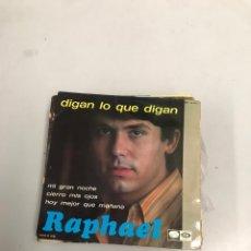 Discos de vinilo: RAPHAEL. Lote 200315637