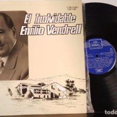 Discos de vinilo: EL INOLVIDABLE EMILIO VENDRELL. Lote 200327138