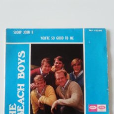 Discos de vinilo: THE BEACH BOYS SLOOP JOHN B + 3 ( 1966 EMI CAPITOL SP ) GOD ONLY KNOWS WOULDNT IT BE NICE YOURE SO G. Lote 200369047
