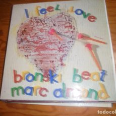Discos de vinilo: BRONSKI BEAT, MARC ALMOND . I FEEL LOVE . MAXI-SINGLE. LONDON, 1985. SPAIN. (#). Lote 200369291