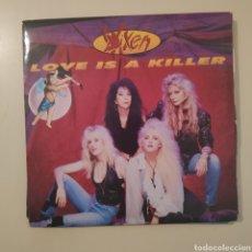 Disques de vinyle: NT VIXEN - LOVE IS A KILLER 1990 SINGLE VINILO HEAVY ROCK METAL. Lote 200375337