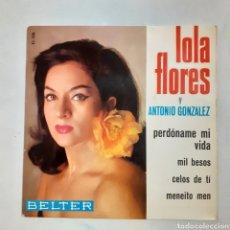Discos de vinilo: LOLA FLORES Y ANTONIO GONZALEZ. MENEITO MEN. BELTER 51.198. 1965. EP. FUNDA VG+. DISCO VG++. Lote 200383852