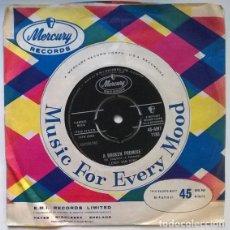 Disques de vinyle: LEROY VAN DYKE. A BROKEN PROMISE/ I SANT BACK AND LET IT HAPPEN. MERCURY, UK 1962 SINGLE. Lote 200397873