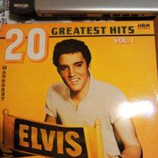 Discos de vinilo: ELVIS PRESLEY 20 GREATEST HITS VOL 1. EDITADO EN ENGLAND. Lote 200399921