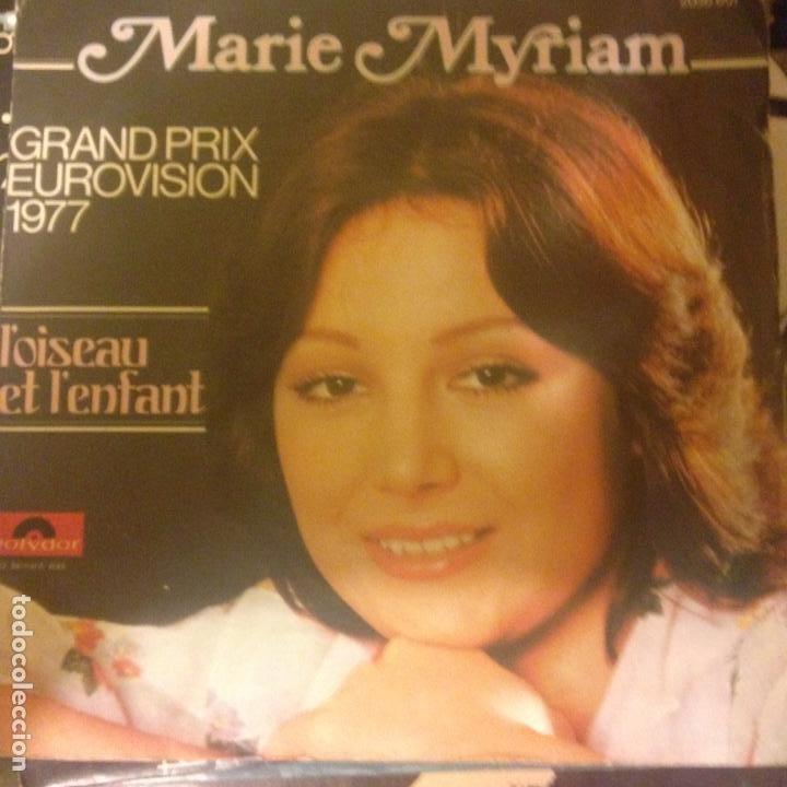 MARIE MYRIAM L´OISEAU ET L´ENFANT SINGLE EUROVISION 1977 (Música - Discos - Singles Vinilo - Festival de Eurovisión)