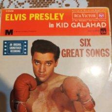 Discos de vinilo: ELVIS PRESLEY IN KID GALAHAD. EP DE 6 TEMAS . EDITADO EN ESPAÑA. 1962.. Lote 200404408