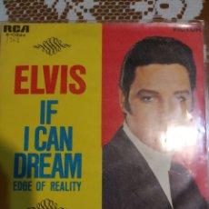 Discos de vinilo: ELVIS PRESLEY IF I CAN DREAM. EDITADO EN ESPAÑA 1968.. Lote 200443322
