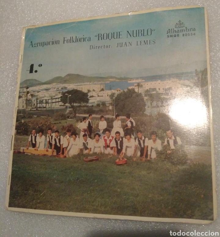 AGRUPACIÓN FOLKLÓRICA ROQUE NUBLO - FOLÍAS CANARIAS + 3 (Música - Discos de Vinilo - EPs - Country y Folk)