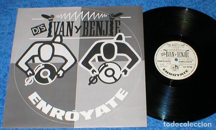 IVAN Y BENJIE DJ´S SPAIN MAXI SINGLE ENROYATE 1988 ELECTRONIC HIP HOP HIP HOUSE BLANCO Y NEGRO MIRA! (Música - Discos de Vinilo - Maxi Singles - Rap / Hip Hop)