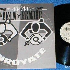 Discos de vinilo: IVAN Y BENJIE DJ´S SPAIN MAXI SINGLE ENROYATE 1988 ELECTRONIC HIP HOP HIP HOUSE BLANCO Y NEGRO MIRA!. Lote 200533852
