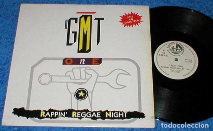 G.M.T. ONE SPAIN MAXI SINGLE RAPPIN REGGAE NIGHT 1987 ELECTRONIC REGGAE SYNTH POP RAP BLANCO Y NEGRO (Música - Discos de Vinilo - Maxi Singles - Rap / Hip Hop)