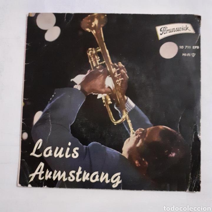 LOUIS ARMSTRONG. WHEN YOU'RE SMILING. EP. BRUNSWICK 10711 EPB. ESPAÑA 1961. FUNDA VG. DISCO VG++. (Música - Discos de Vinilo - EPs - Jazz, Jazz-Rock, Blues y R&B)
