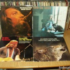 Discos de vinilo: LOTE 8 LP'S WILLIE NELSON.- JOHN DENVER.- JAMES TAYLOR. Lote 200581025