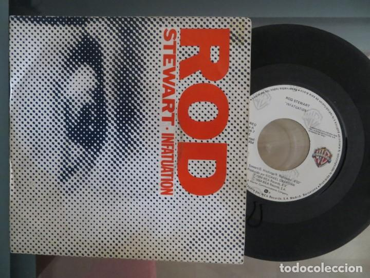 ROD STEWART: INFATUATION (SPANISH SINGLE) (Música - Discos de Vinilo - Singles - Pop - Rock Internacional de los 80)