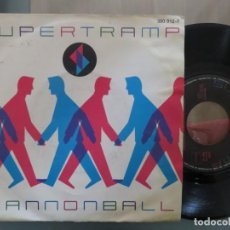Discos de vinilo: SUPERTRAMP: CANNONBALL (SINGLE ESPAÑOL). Lote 200586273